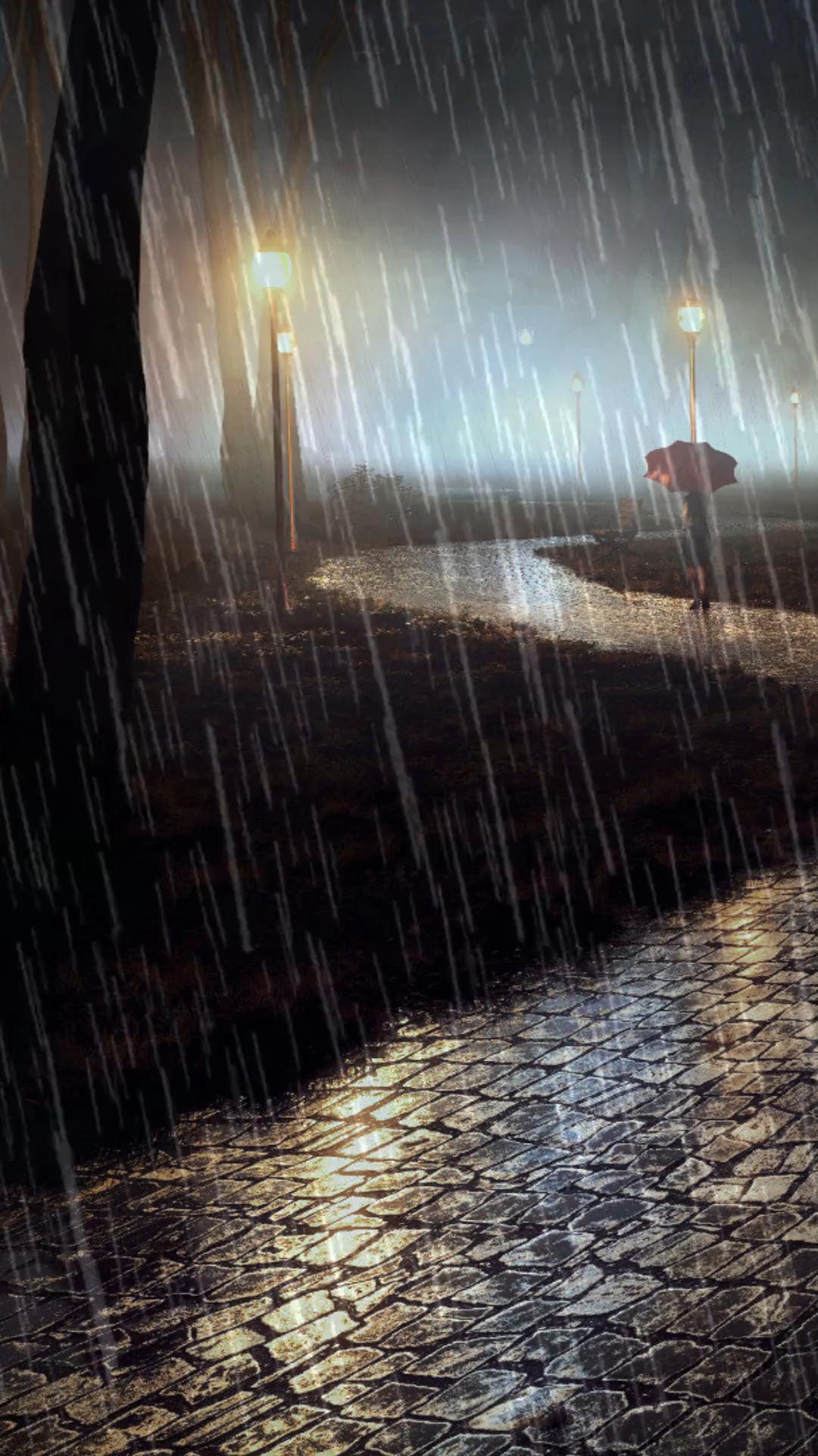 Som da chuva no parque