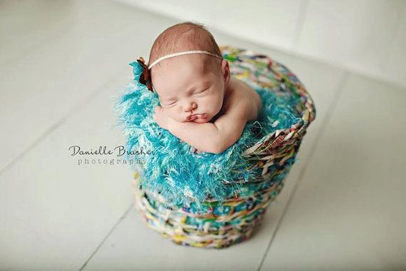 Photography Prop: I hand knit this blanket in one of my favorite color schemes using 10+ differently shaded / textured yarns! BabyBirdz