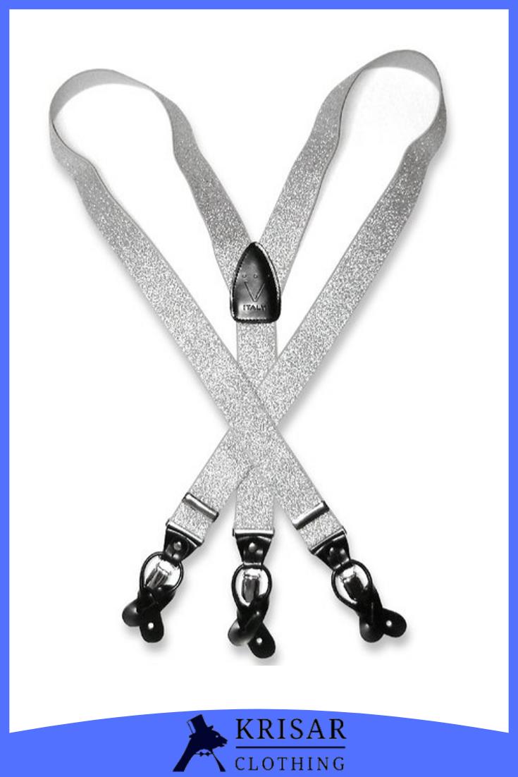 Men/'s PLAID Design BLACK YELLOW WHITE SUSPENDERS Y Shape Elastic Buttons /& Clips