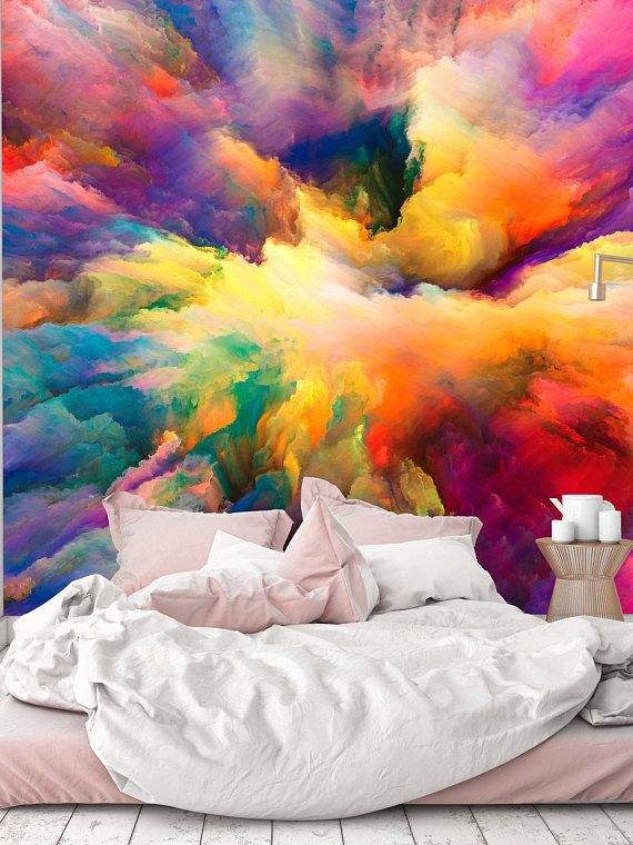 Removable Wallpaper Mural Peel & Stick Color Explosion