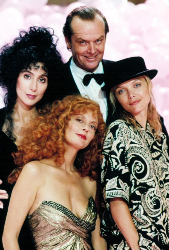 THE WITCHES OF EASTWICK, Michelle Pfeiffer, Jack Nicholson, Susan Sarandon, Cher, 1987
