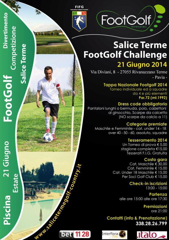 8° Tappa Nazionale Footgolf a Salice Terme (PV) sabato 21 giugno