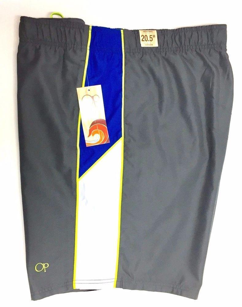 e240e122aa OP Ocean Pacific Men's Swim Trunks Bathing Suit Board Shorts 2XL 44-46 Grey  NEW #OceanPacific #Trunks