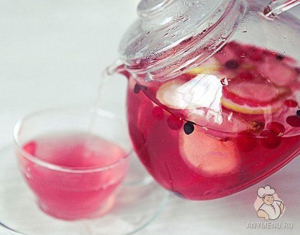 ягодный чай клюква