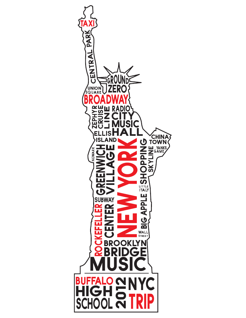 Shirt design layout - T Shirt Design For Band Choir And Orchestra Trip To Nyc