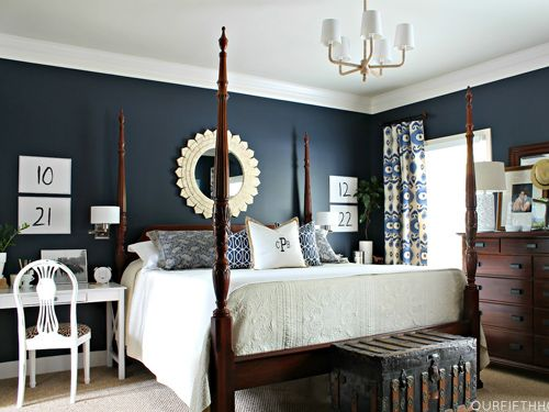 Mad For Plaid 11 Decorating Ideas Town Country Living Dark Blue Bedrooms Blue Bedroom Decor Blue Bedroom Ideas For Couples