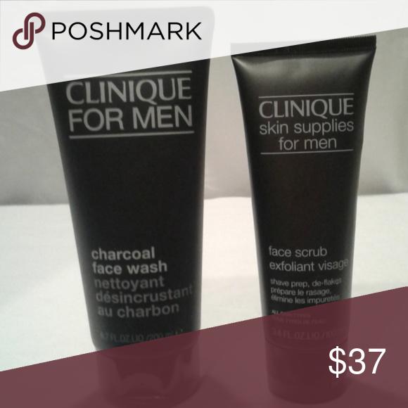 Clinique Men S Face Wash And Scrub Exfoliant Set Men S Set Wash 6 7oz And Exfoliant Is 3 4 Oz Clinique Other Mens Face Wash Face Wash Clinique