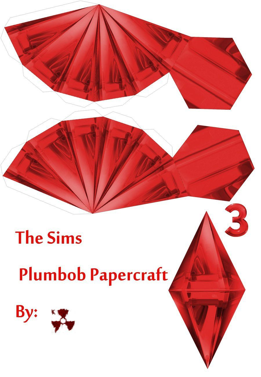 This is an image of Critical Sims Plumbob Template Printable
