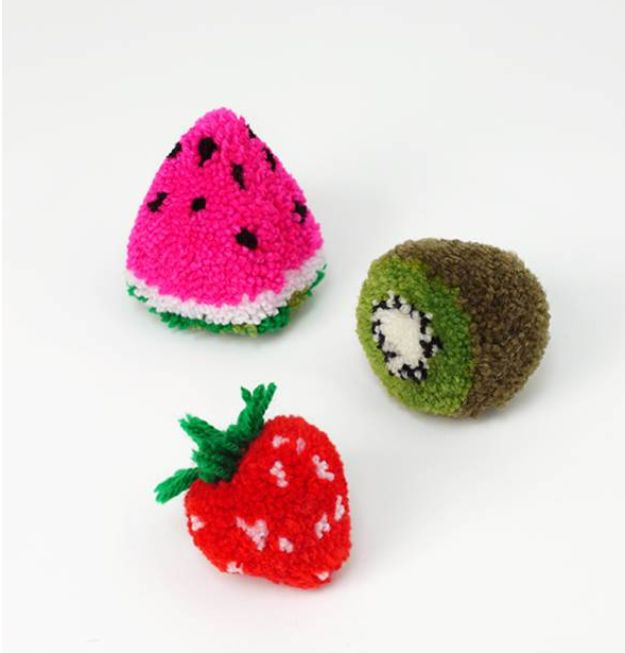 38 pom pom crafts and diys pom pom crafts hat tutorial for Cute pom pom crafts