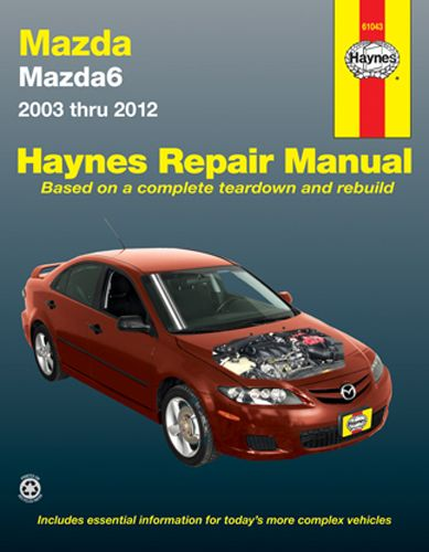 autoparts mazda 6 haynes repair manual 2003 2012 vehicles covered rh pinterest com Mazda 6 Owner's Manual repair manual for 05 mazda mx 5 miata