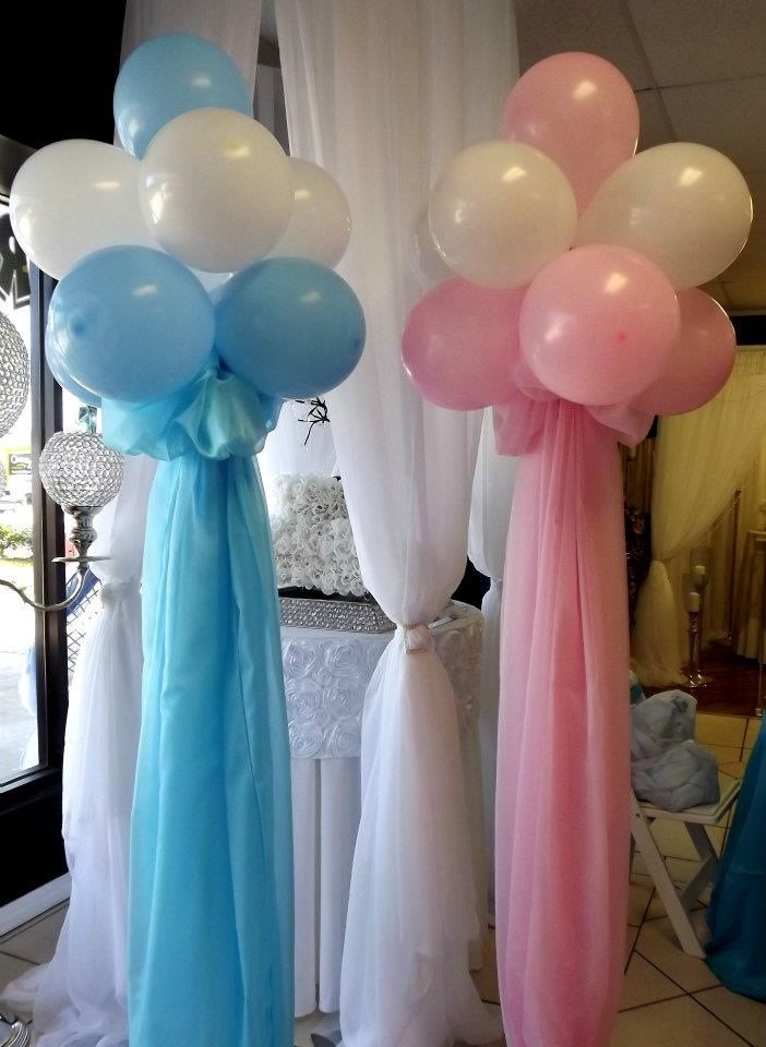 Baby Shower Balloons Balloon Bouquets Pink Blue Baby Blue Baby