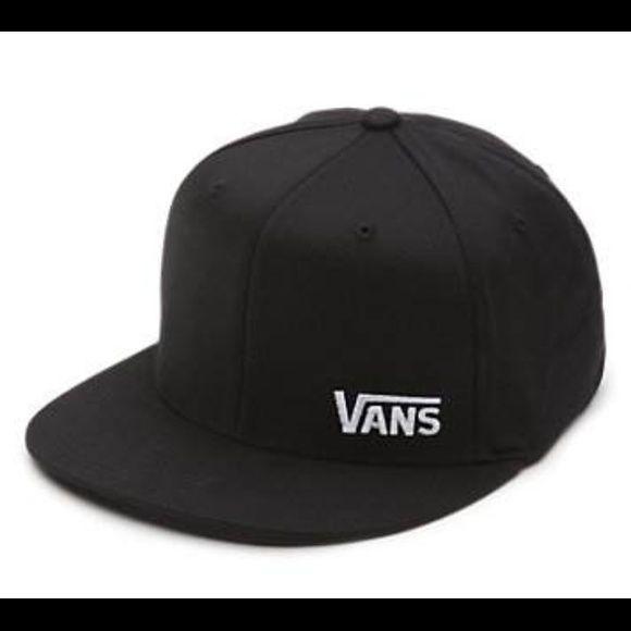 61d4705358f66 Vans hat Vans off the wall black flex fit hat Vans Accessories Hats ...