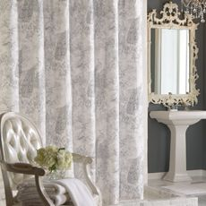 Love This Curtain French Toile Fabric Shower