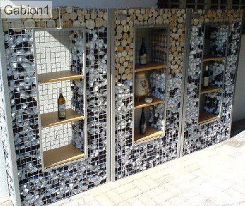 gabion walls and wine rack http://www.gabion1.com