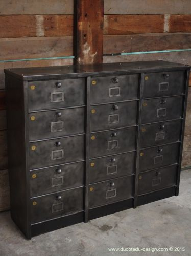 Meuble 15 Casiers Industriel Strafor Casier Industriel Decoration Industrielle Industriel