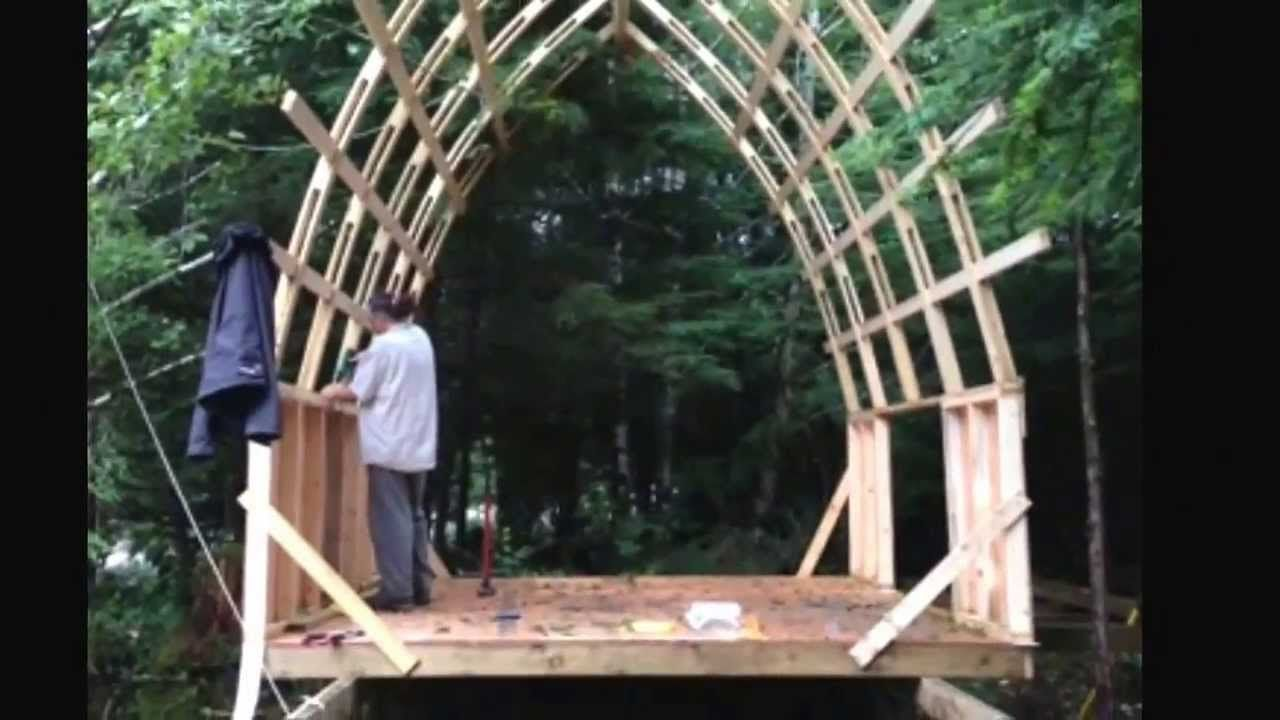 bow roof cabin. cheap strong