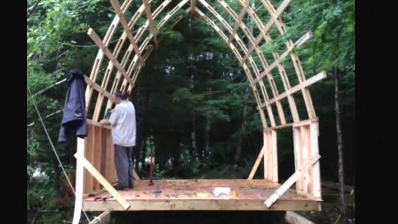 bow roof cabin cheap strong  light weight dacha ideas pinterest cabin lights
