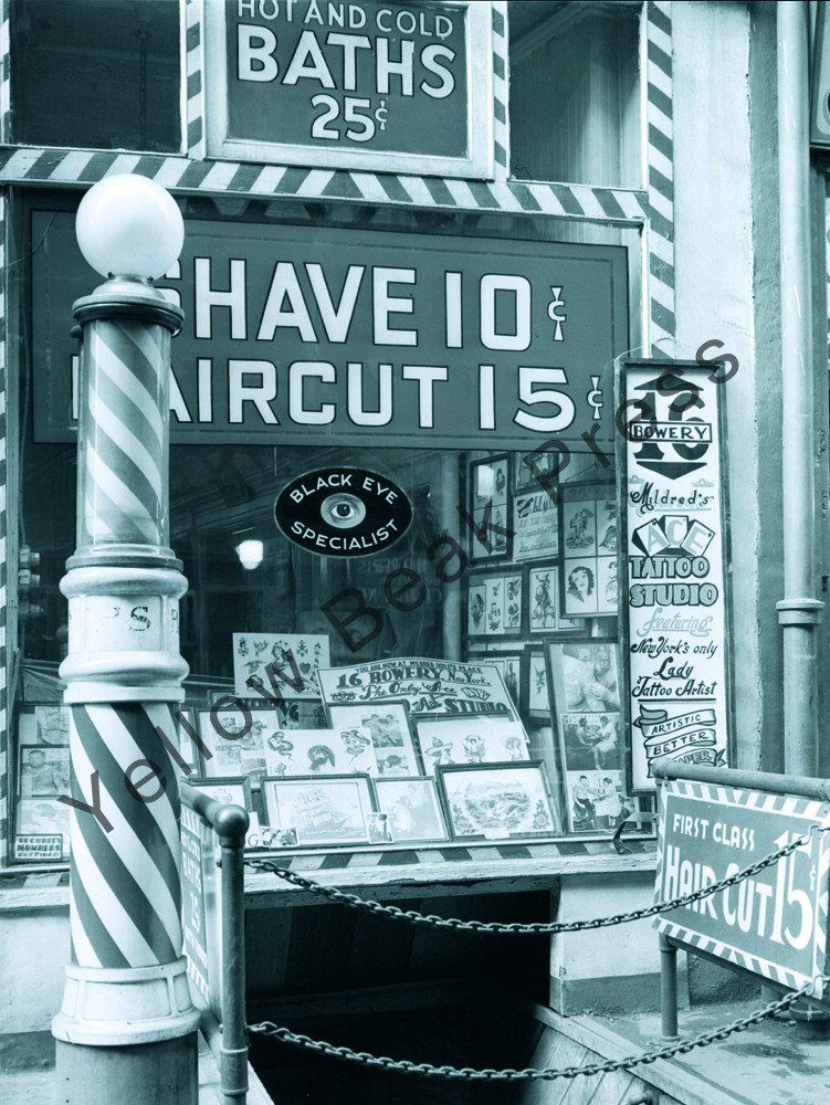 Mildred Hull's tattoo shop on The Bowery of New York City