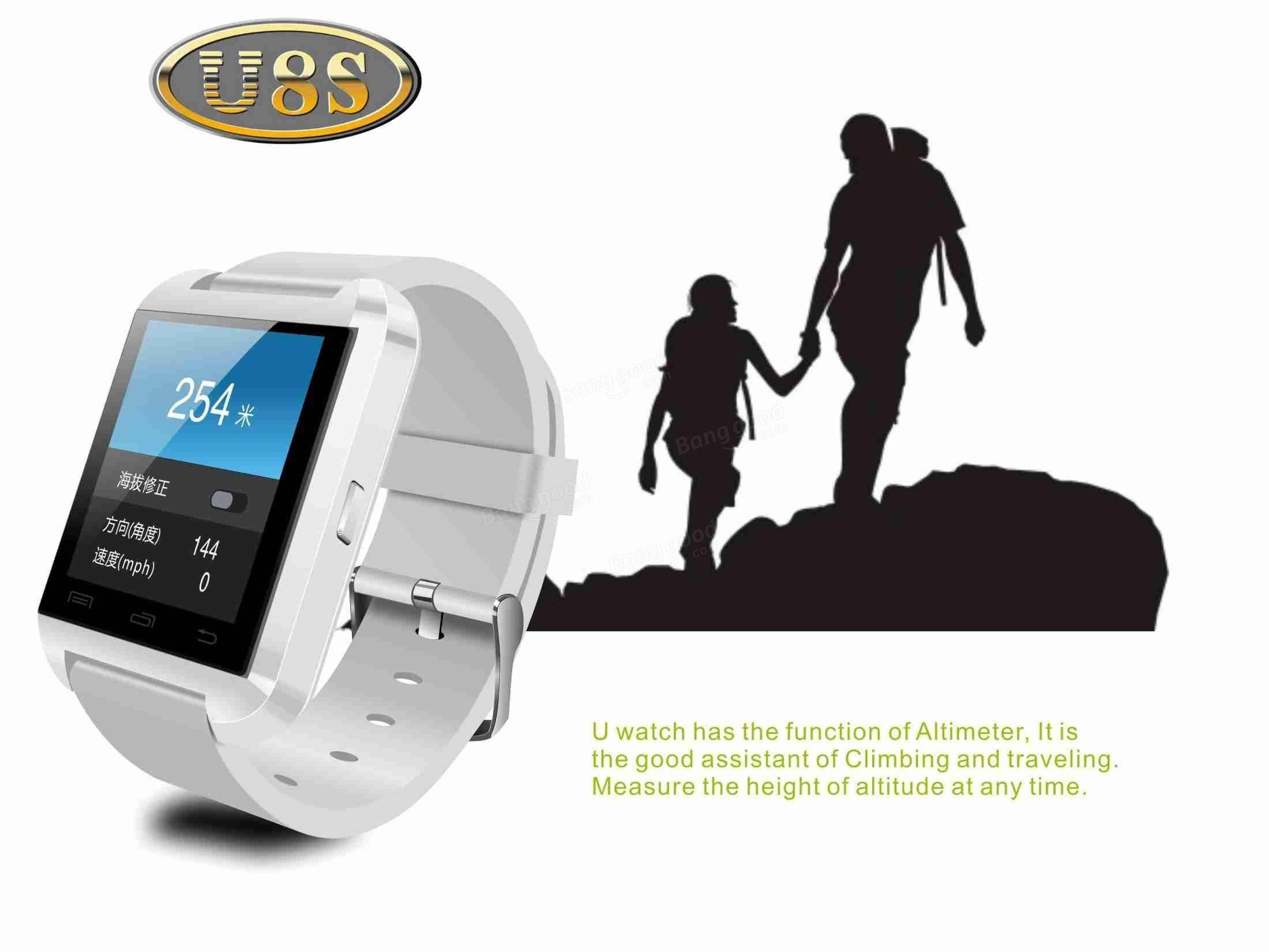 Original Waterproof U8S Sport U Watch Bluetooth Smart Wrist Sports Sale-Banggood.com