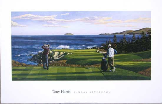 Sunday Afternoon by Tony Harris Overall Print Size: 28x18 Available ...
