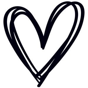 Heart silhouette. Design store view sketched