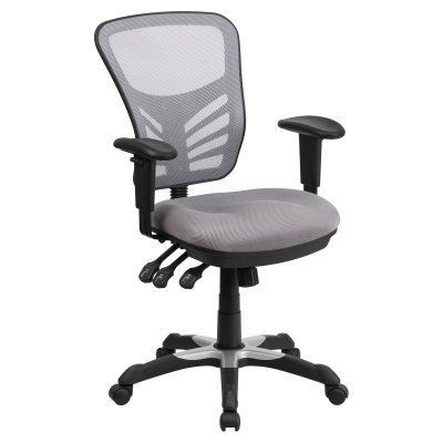 flash furniture mid back mesh swivel task chair with triple paddle