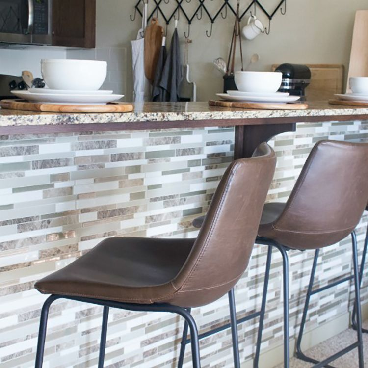 Create an easy kitchen island tile backsplash in just minutes with