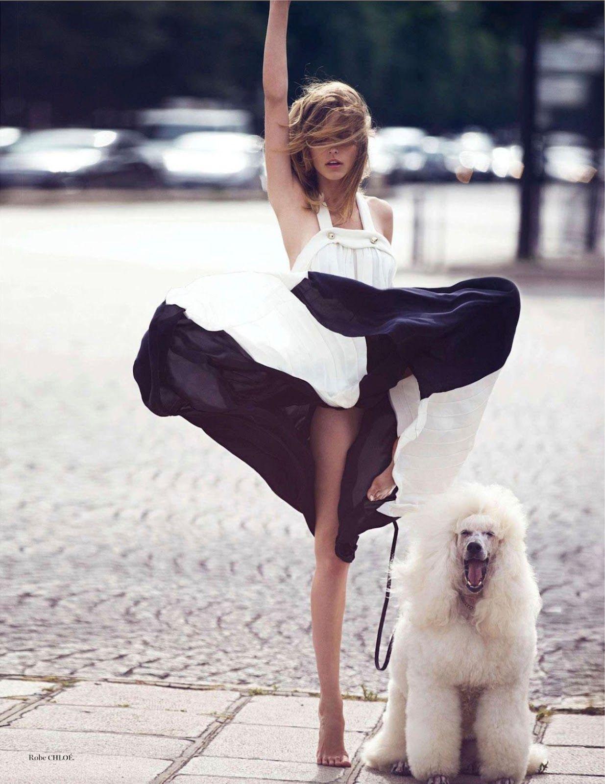 visual optimism; fashion editorials, shows, campaigns & more!: parisiennes: karlina caune, hana jirickova, emily didonato and clement chaber...