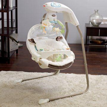 FisherPrice My Little Lamb Cradle Baby Swing; 225