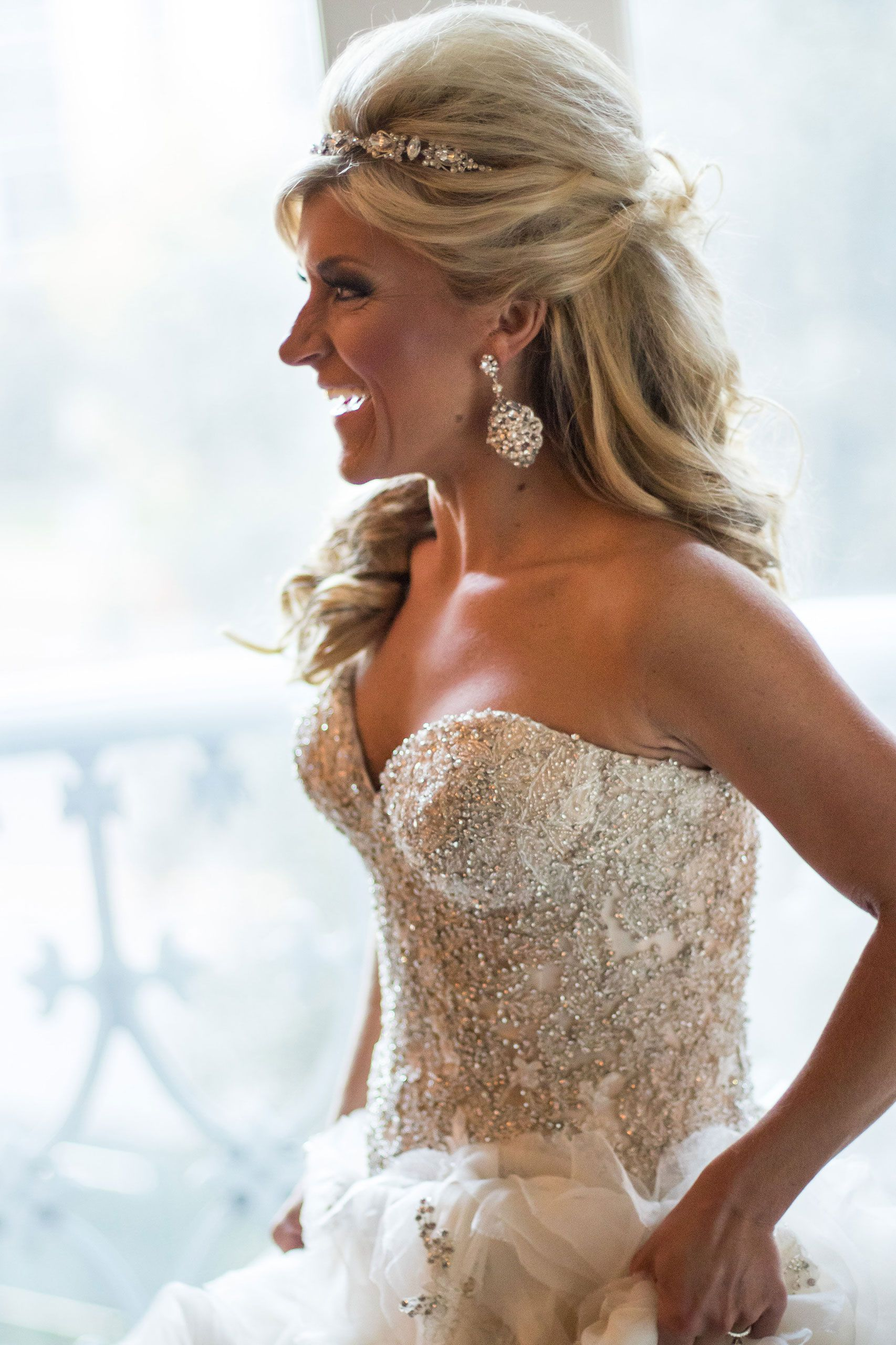 Pin On Crescent Court: Glamorous Bride In A StarDust Celebrations Gown