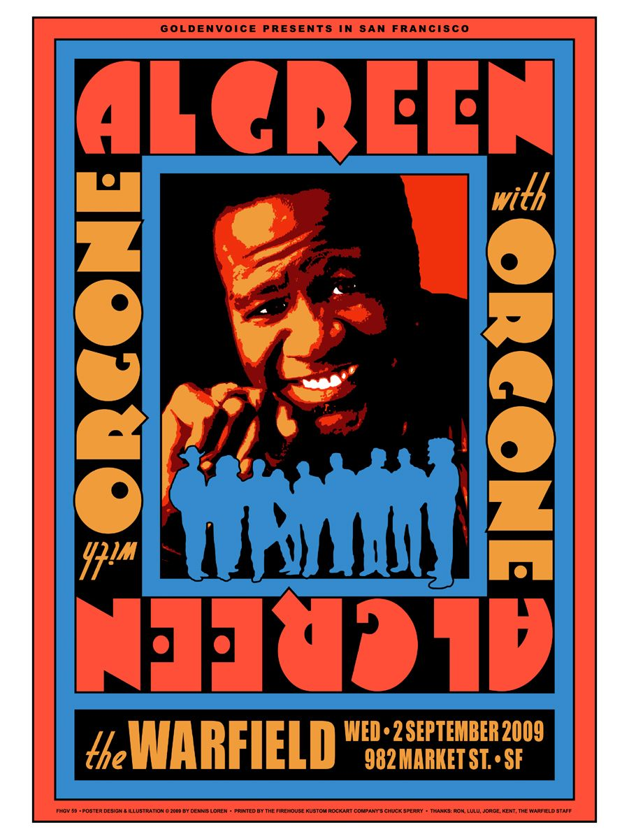 Al Green The Warfield Jazz Poster Vintage Concert Posters Concert Posters