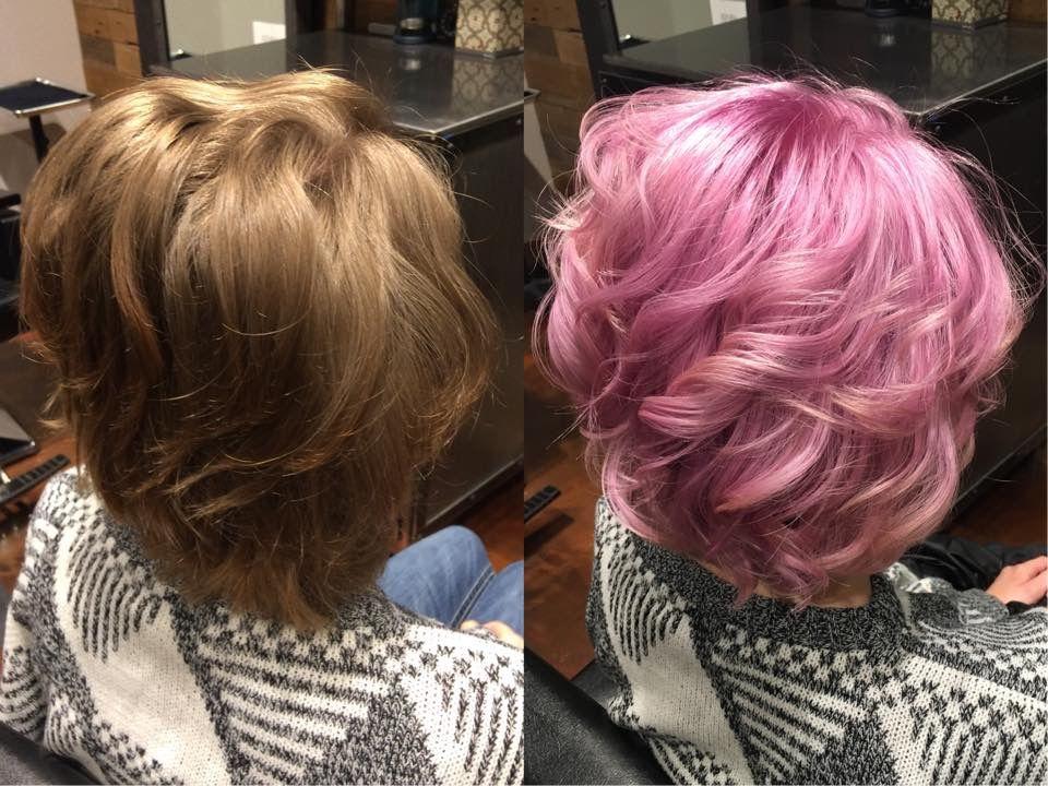 Bubblegum Pink On Short Hair Cut And Fashion Color By Cheyenne