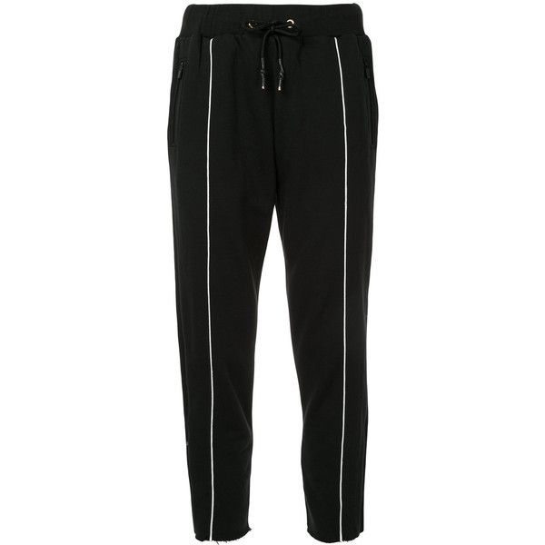 P.E Nation Deuce track pants (81.905 CLP) ❤ liked on Polyvore featuring activewear, activewear pants, black and track pants
