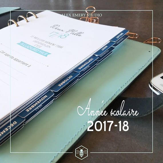 Recharge Agenda format A5 2017-18 Produits AES Pinterest - format for an agenda