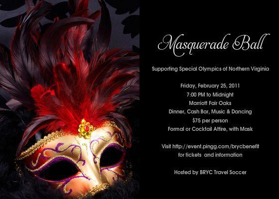 Masquerade Ball – Masquerade Party Invitation Ideas