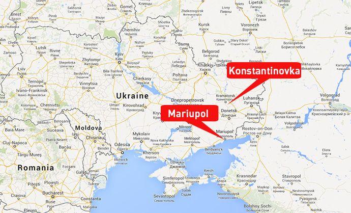 Ukrainian army attacks eastern cities of Mariupol Konstantinovka