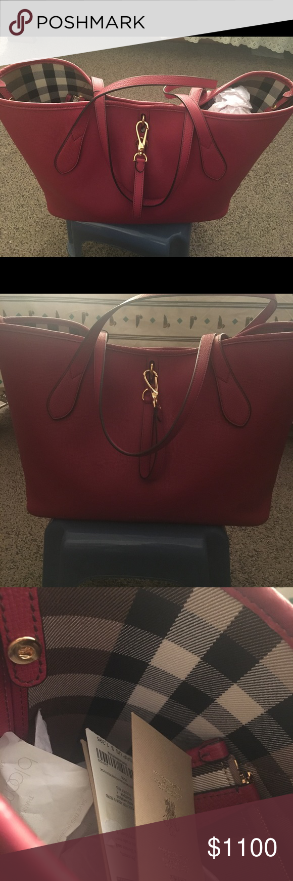 NWT Burberry Honeybrook Derby Medium Tote Never worn or used Burberry s  roomy c3925bc72e0aa