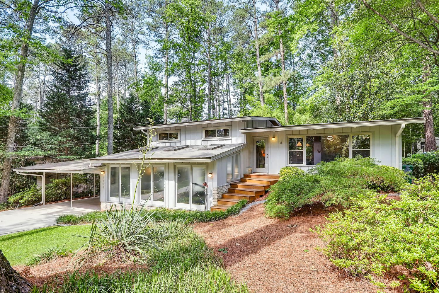Mid Century Modern Northcrest Home,Modern Atlanta Homes For Sale, Mid  Century