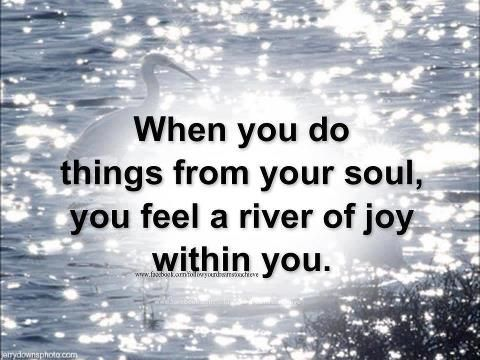 When You Do Things From Your Soul Inspiration Pinterest