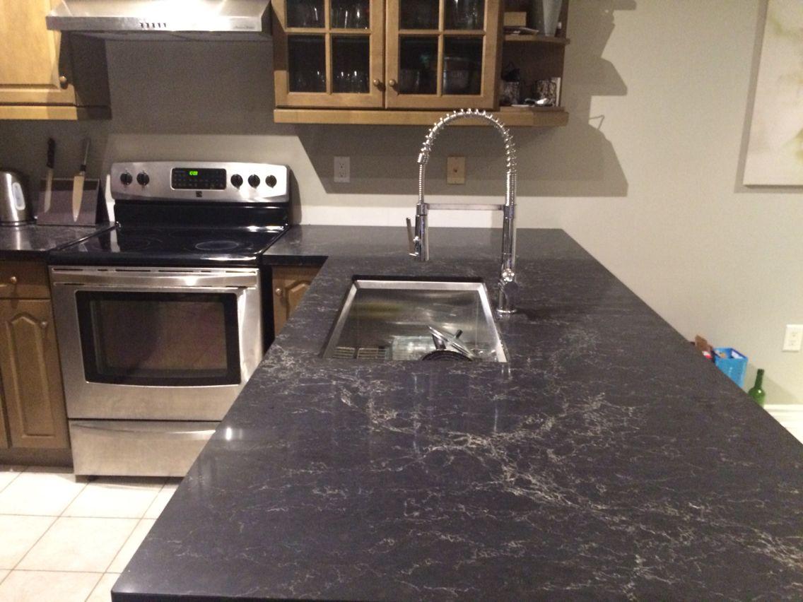 Image Result For Karuna Silk 1x4 Black Countertop Kitchen Tops