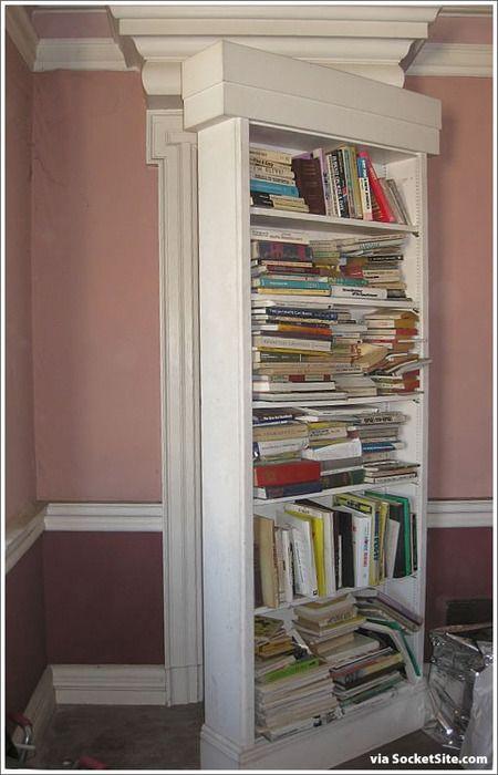 Hidden Doors   Secret passage behind bookcase door ...