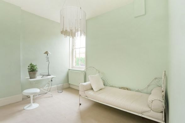 charming light green living room wall color | Mint color paint. It's a very light green | Green bedroom ...
