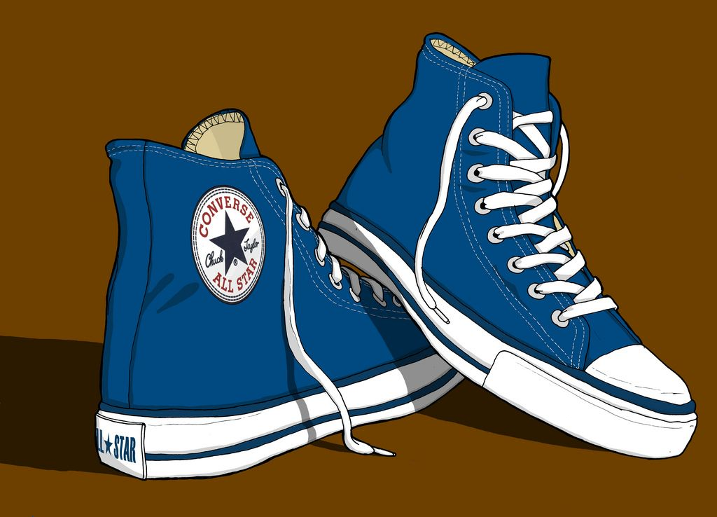f5f91d765a65 Converse All Stars Trainers illustration in 2019