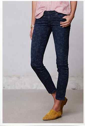 Anthropologie AG + Liberty Ankle Legging Jeans 25