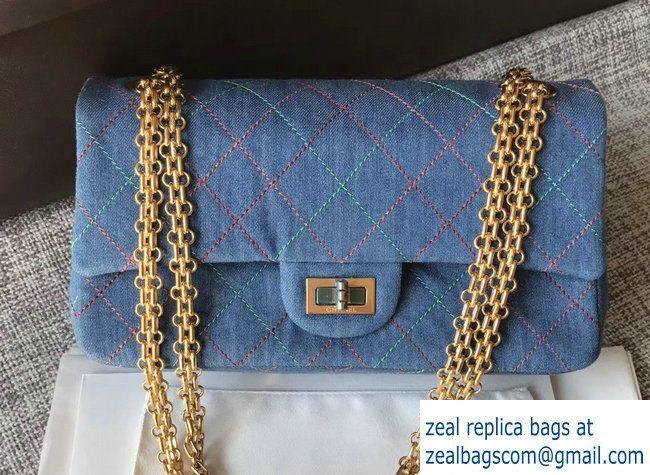 641feb157e4d Chanel Thread Denim 2.55 Reissue Size 225 Flap Bag 2017 | Luxury ...