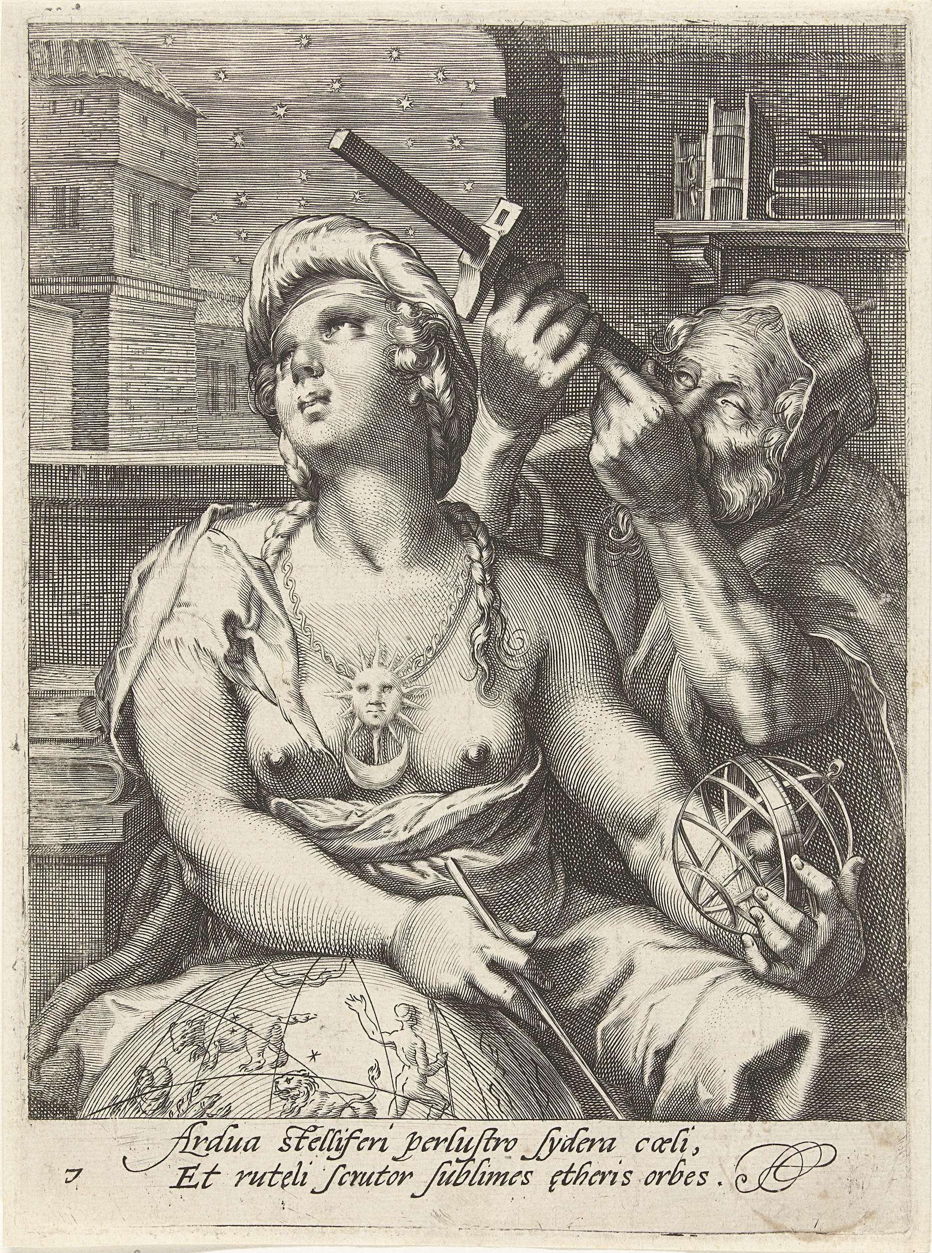Resultado de imagen de Astronomie (Astronomia), Cornelis Jacobsz. Drebbel, after Hendrick Goltzius, 1587 - 1605