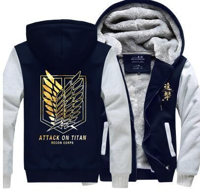 Anime Attack on Titan Cosplay Hoodie Winter Fleece Unisex