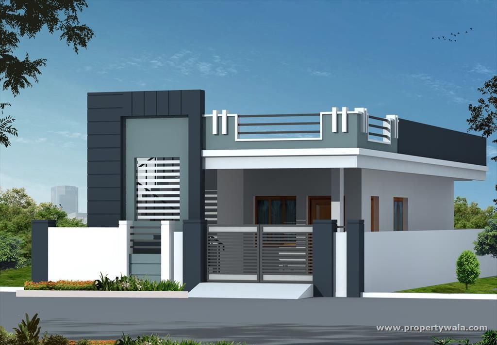 The gallery for front elevation of indian simplex houses for Front view of duplex house in india