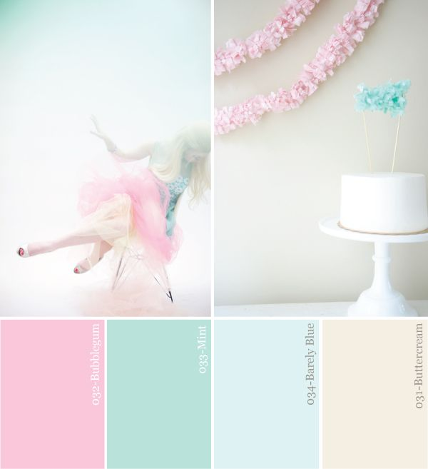 Hue It Yourself: Pastel Pink + Mint Party Color Palette