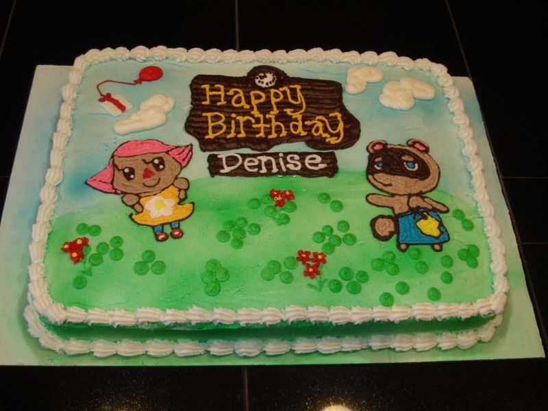 Animal Crossing Cake I had soooo much fun making this one